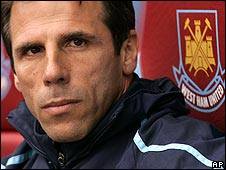 Zola took charge of West Ham on 11 September