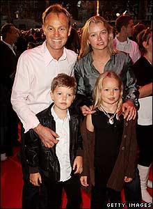 Jason Donovan and family