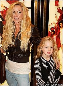 Meg Matthews and daughter