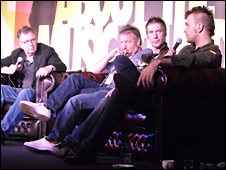 (l-r) Steve White, Tom Robinson, Peter Hook, Clint Boon, Jon McClure