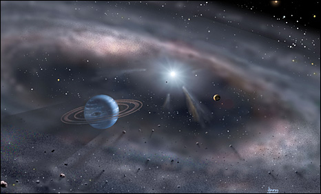 Exo-planet, which is a planet going around a star other than our Sun (Pic David Hardy)
