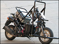 Prototipo de moto desarrollado por Uri Nenner