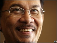 Malaysian opposition leader Anwar Ibrahim, September 2008