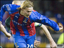 Inverness striker Markus Paatelainen