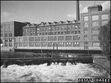 Tampella Linen Factory, Tampere, (file photo, 1950)