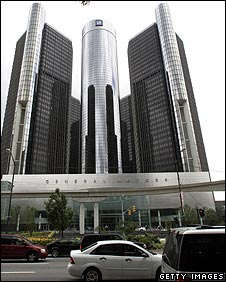 General Motors building, Detroit (Photo:  JEFF HAYNES/AFP/Getty Images)