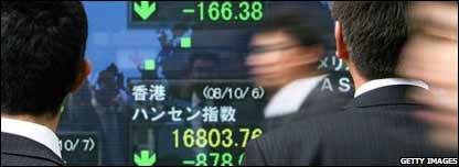 Tablero en los mercados asi�ticos