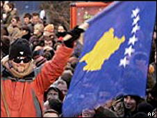 Kosovo independence celebration (file pic)