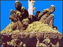 Fuente de la plaza central de Marino