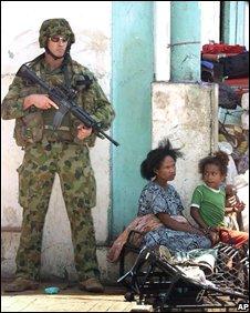 Interfet soldier