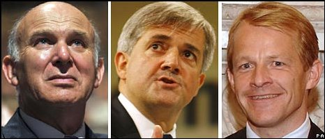 Vince Cable, Chris Huhne and David Laws