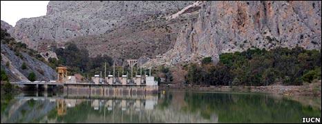 Dam near Andalucia, Spain (Image: IUCN)