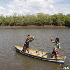 Two boys fishing (Image: IUCN)