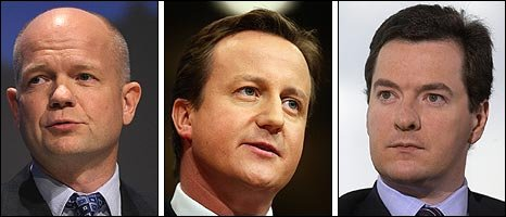 William Hague, David Cameron and George Osborne