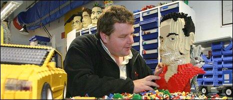 Guy Bagley building Lego models