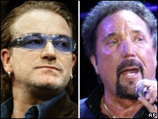 Bono and Sir Tom Jones