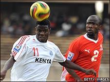 Allan Wanga (left) and Richard Ghaiseb of Namibia