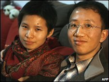 Zeng Jinyan and Hu Jia at their home in Beijing (January 2007)