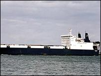 السفينة الاكرانية المختطفة الشهر الماضي