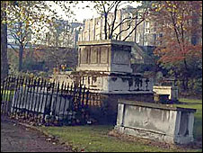Tombstones. Picture: Friends of St George's Gardens