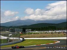 Lewis Hamilton's McLaren at Fuji