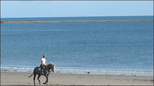 Sheilagh Rainey sent in this shot of a horse and rider on Cloughey Beach, County Down