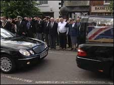 People in Wootton Bassett honour Britain's war dead