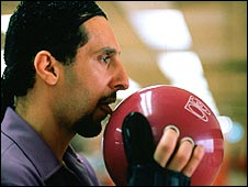 Jesus Quintana prepares to bowl  (Photography courtesy of Universal Pictures)