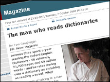 Story about man who read the OED in a year