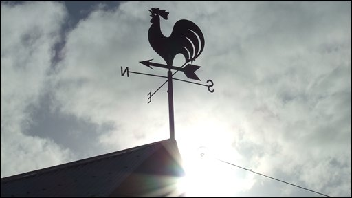 This weather vane near Muldersleigh Hill, Whitehead, was captured by Joanne Murdy