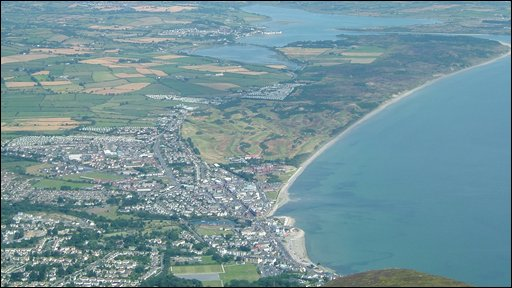 James Smith captured this image of Newcastle and Dundrum from the top of Slieve Donard