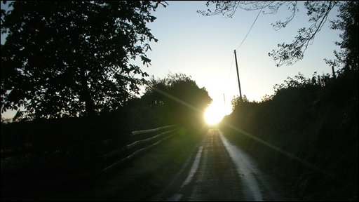 The rising sun can prove a challenge to motorists as Ray Murphy's shot from Creevedonnell, County Londonderry, shows.