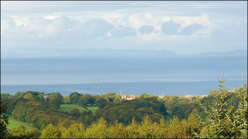 Paul Evans sent in this autumnal view of Glenarm Glen looking down towards Glenarm Castle