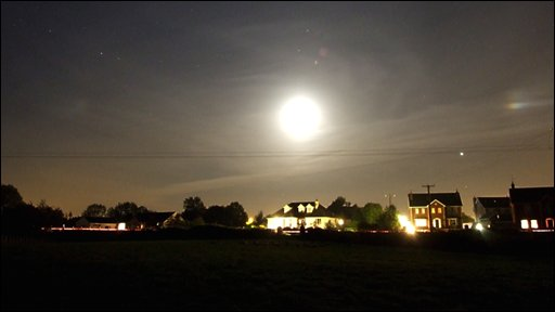 Martin McKenna sent in this night shot of Maghera