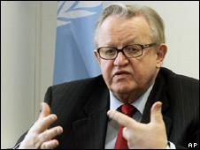 Martti Ahtisaari. File pic
