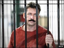 Viktor Bout in Bangkok Criminal Court on Friday