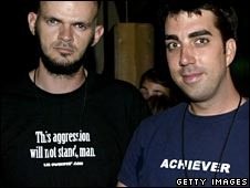 "At Lebowski Fest, wearing an ""Achiever"" T-shirt"