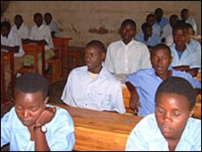 Pupils at Mataba Secondary School