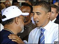 Barak Obama en un acto electoral