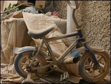 Abandoned child's bike photographed by Hugh Sykes