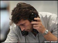Trader in London 8 October