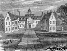 Engraving of mansion