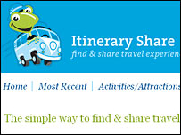 itineraryshare.com website