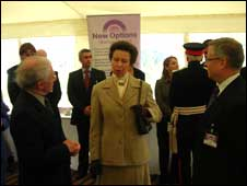 Princess Royal talks to school staff