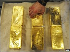 Gold bars produced in Austria
