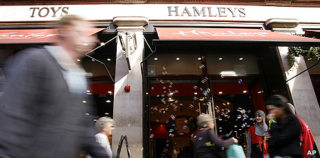 Hamleys toy store in London