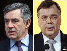 Gordon Brown and Geir Haarde