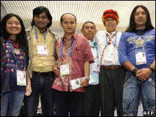Indigenous leaders in Barcelona