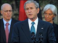 بوش: أغنى دول العالم ستعمل على القضاء على الأزمة المالية نادي خبراء المال