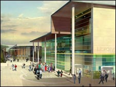 Artist's impression of the new library. Picture courtesy of DLA Architects.